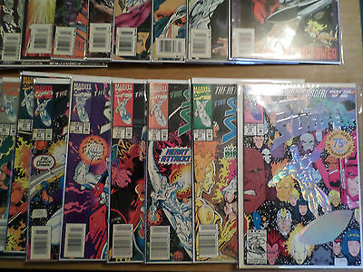 Collection of 1990's Silver Surfer comics; #73 through #123