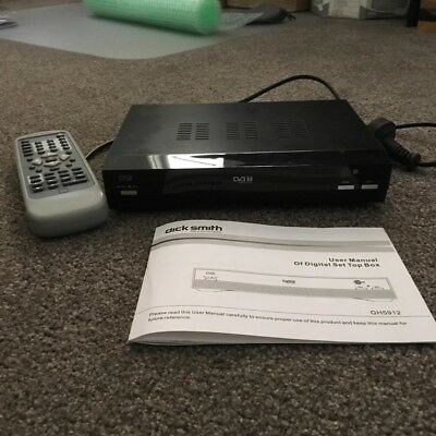 Dick Smith GH5912 Set-Top Box with remote and instruction manual