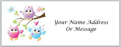 Personalized address labels Primitive Country Owls Buy 3 get 1 free (xco 3321)