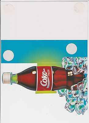 Coca Cola Coke Feel the Curves Original NAUGHTY POSTER card Bottle Ice UNUSED