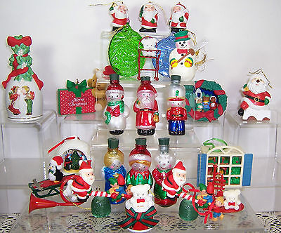 Lot 23 pcs AVON CHRISTMAS COLLECTIBLE ORNAMENTS * * *Beautiful Condition* * *