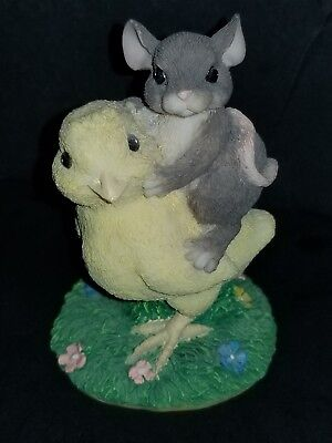 Charming Tails Figurine Chickin Back Ride Chicken  Easter  EXCELLENT CONDITION