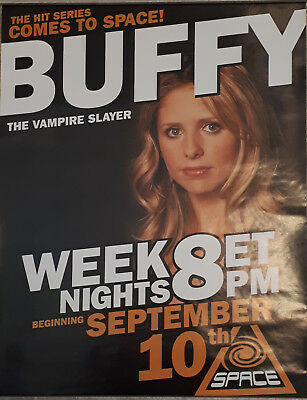 Sarah Michelle Gellar Buffy the Vampire Slayer Comes To Space TV Poster 18x24in