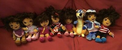 TY Beanie Babies - DORA the Explorer (Dora's World Adventure) ( Set of 4 )