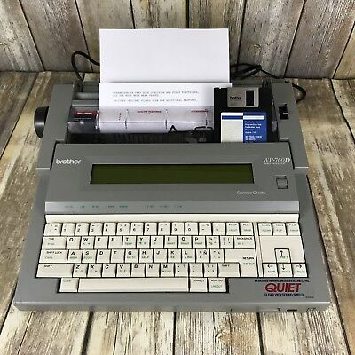 Brother Word Processor WP-760D WORKING Electric Typewriter Spell Check