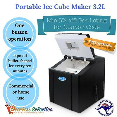 Ice Cube Maker Making Machine Commercial Home Portable Cafe Bar Party NEW 3.2L