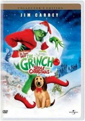 DR SUESS HOW THE GRINCH STOLE CHRISTMAS Carrey DVD NEW
