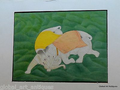 Rare Hand Painted Fine Decorative Collectible Indian Miniature Painting. G77-31