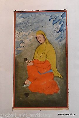 Rare Hand Painted Fine Decorative Collectible Indian Miniature Painting. G77-32