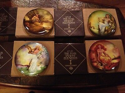 (4 Complete Set) EDWIN K KNOWLES FOUR ANCIENT ELEMENTS COLLECTOR PLATES
