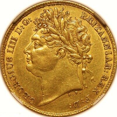 1824 George Iv Gold Half Sovereign; Extremely Rare Example