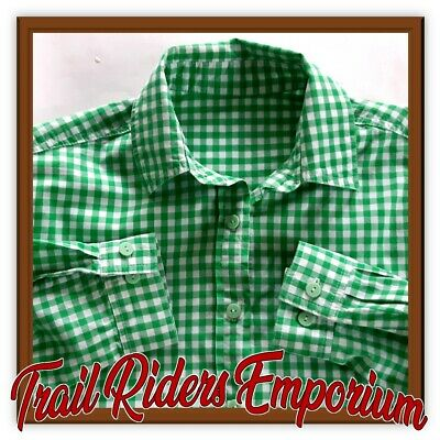 BISLEY Mens Short Sleeve Check Shirt New without tags SIZE SMALL Green Blue Chec
