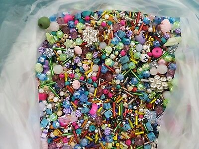 bulk lot of beads for art & craft, sewing, scrap booking etc