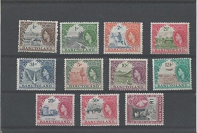 1961-63 Basoutland ,qeii ,mnh ,sg 69/79  , Note 1C &5C Lightly Hinged