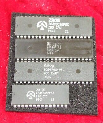 Zilog Z80 chip set NOS for vintage computer: CPU DMA DART CTC