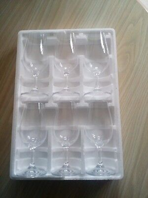 Set Of 6 Sunday Times Wine Glasses New In Box