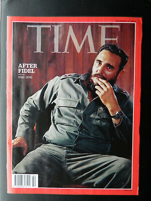 """Time Magazine December 2016 Issue Fidel Castro """"After Fidel"""""""