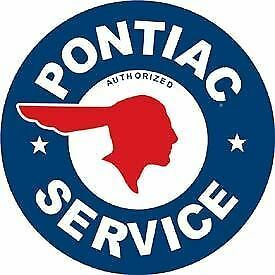 Pontiac Service Tin Sign New Garage Shed Chevrolet Hotrod Ratrod Chev Rustic