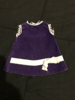 Vintage Ideal Crissy Family Original 1st edition VELVET Dress 1969