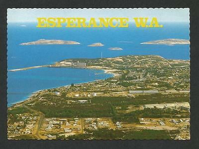 WA - c1970s POSTCARD - AERIAL VIEW OF HEARTSHAPE BAY & TOWNSHIP, ESPERANCE, WA