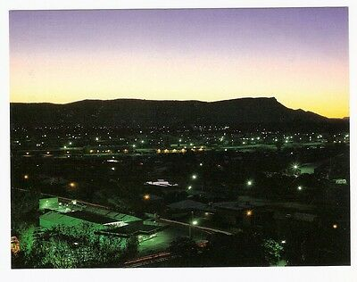 NT - c1970s POSTCARD - TWILIGHT OVER MT GILLEN FROM ANZAC HILL, ALICE SPRINGS