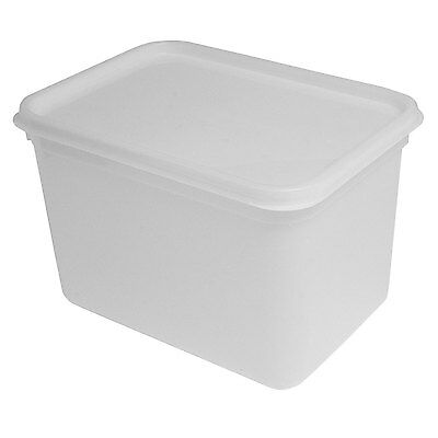 4 Litre Rectangular Ice Cream tub/Food storage container with lid 220x160x160mm