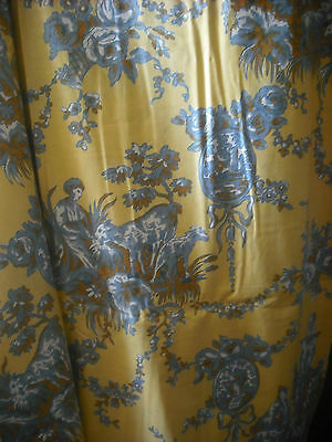 Antique Vintage toile jouy  Trianon big measure +++  3m of length  /  2m80 width