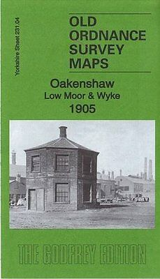 Old Ordnance Survey Map Oakenshaw, Low Moor & Wyke 1905
