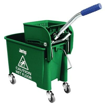 Jantex Mop Bucket and Wringer Green 63 x 67 x 27cm Janitor/Cleaning High Quality