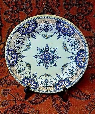 French Antique 'Gien' Plate - circa 1856-1860