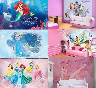 foto wandbild tapete kinderzimmer disney frozen prinzessin elsa ariel m dchen eur 54 67. Black Bedroom Furniture Sets. Home Design Ideas