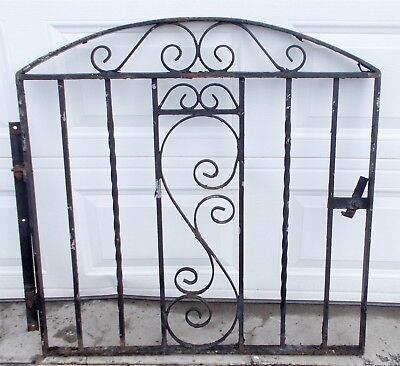 "Vintage Wrought Iron Metal Gate Architectural Salvage 38 1/2"" x 38 1/2"""