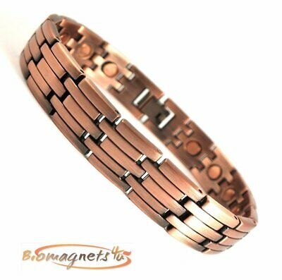 Mens Super Strong Interlocking Copper Magnetic Bracelet - Arthritis Pain Relief