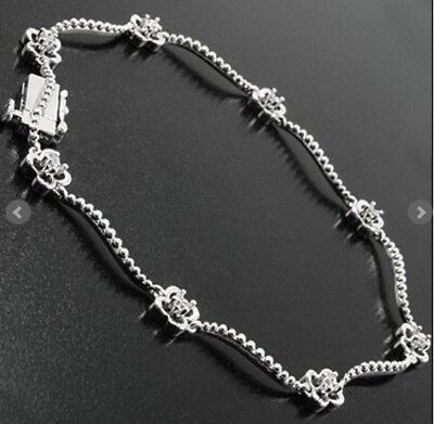 Womens Bracelet Plated 14K White Gold 16 Genuine Natural Diamonds 7 Inch