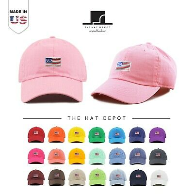 Kids Embroidered American Flag Washed Cotton and Denim Low Profile Baseball Cap