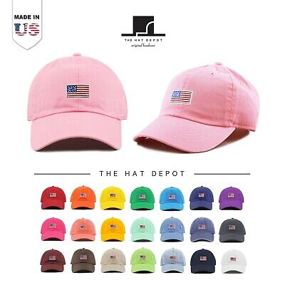 8909a4b2682f1c The Hat Depot Kids Embroidered American Flag Washed Cotton & Denim Baseball  Cap