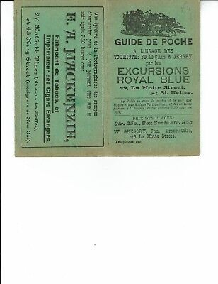 Ephemera Jersey, Guide de Poche by Excursions Royal Blue , in French