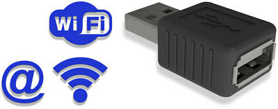 AirDrive Keylogger Pro - Hardware USB Keylogger with Wi-Fi and 16MB memory