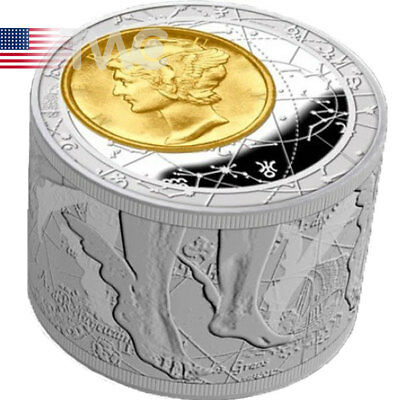 Niue 2013 50$ Fortuna Redux Mercury First Cylinder Shape 6 oz Proof Silver Coin