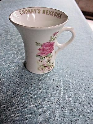 Antique CUDAHY'S REXOMA  for LOST MANHOOD quack medicine ADVERTISING coffee cup