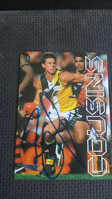 Ben Cousins Club Card Signed Card