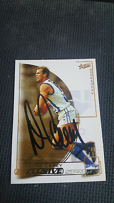 Wayne Carey Select Spx Gold 2002 Signed Card