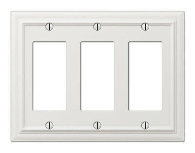 Amertac 94rrrw 3 Rocker White Steel Continental Wallplate