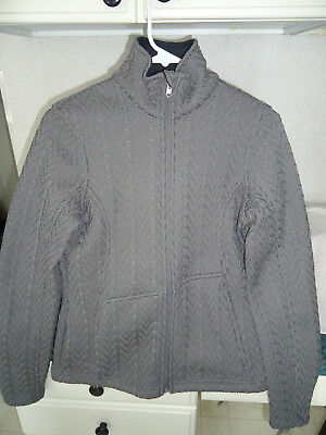 Spyder Major Cable Core Sweater Jacket Womens Small S Gray Srp