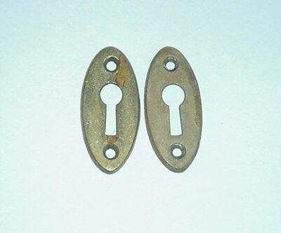 Antique Victorian Brass Key Hole Cover Door Knob Hardware Escutcheons
