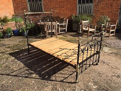 Antique Wrought Iron Bed 3'6""