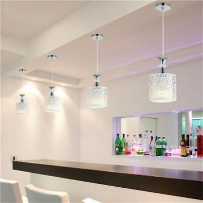 Modern crystal iron led ceiling light fixtures chandelier pendant lamp room usa
