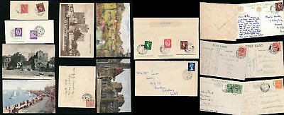 ISLE of MAN 1920-1968 CASTLETOWN POSTMARKS 14 ITEMS PIECES CARDS COVERS