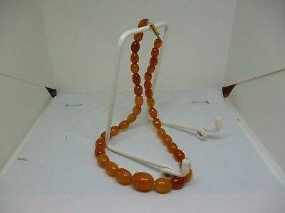 Vintage Amber Necklace with German Clasp ~ Length Approx 16""
