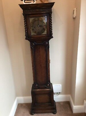 Antique Grandmother Clock Oak